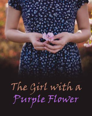 The Girl with a Purple Flower