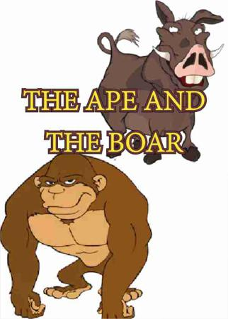 THE APE AND THE BOAR