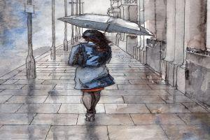 एक अजनबी और बारिश