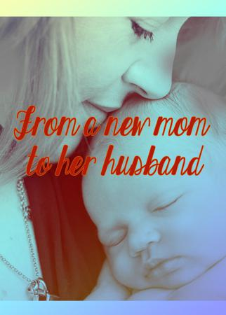 From a new mom to her husband
