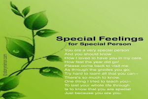 Special Feelings For Special Person