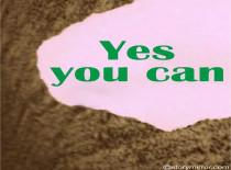Yes, You Can...