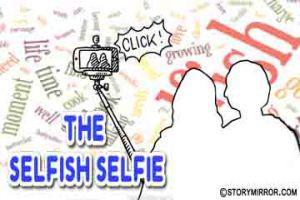 The selfish selfie