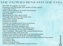 The Stories Beneath The Eyes.