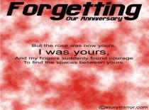 Forgetting Our Anniversary